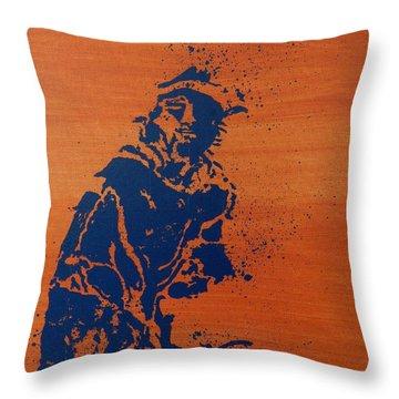 Tennis Splatter Throw Pillow by Ken Pursley