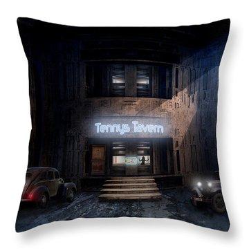 Tenny's Tavern Throw Pillow