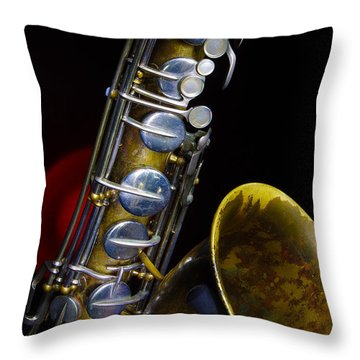Tenor #1 Throw Pillow by Jim Mathis