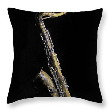 Tenor #2 Throw Pillow by Jim Mathis
