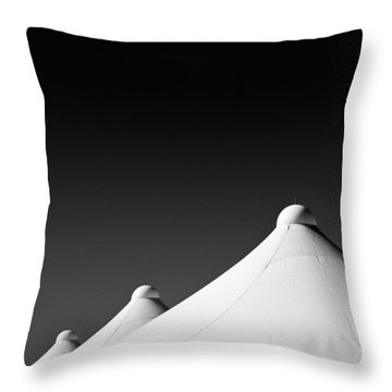 Tent Tops Throw Pillow by Dave Bowman