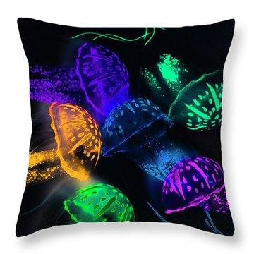 Tentacle Dance  Throw Pillow
