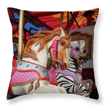 Tented Carousel Throw Pillow
