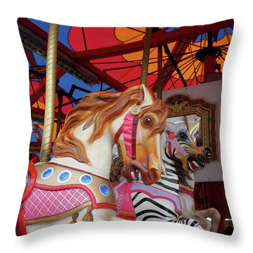 Tented Carousel Throw Pillow
