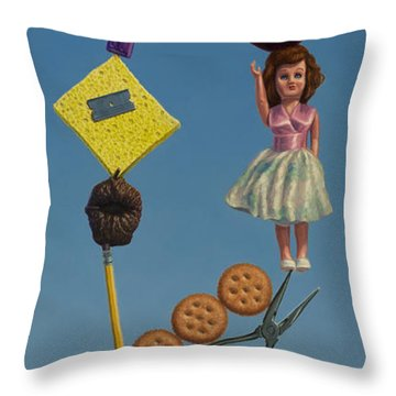 Tenuous Still-life 2 Throw Pillow by James W Johnson