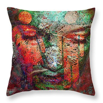 Tenuous-the Masculine And The Feminine Throw Pillow