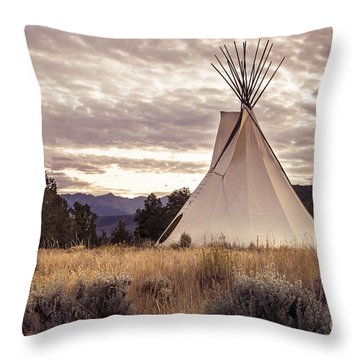 Tepee Throw Pillow by The Forests Edge Photography - Diane Sandoval