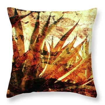 Tequila Field Throw Pillow by J- J- Espinoza