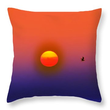 Tequila Sunrise Throw Pillow by Bill Cannon