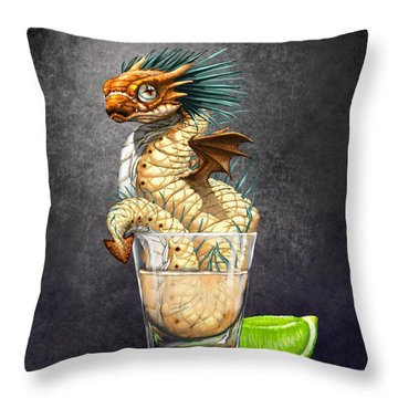 Tequila Wyrm Throw Pillow