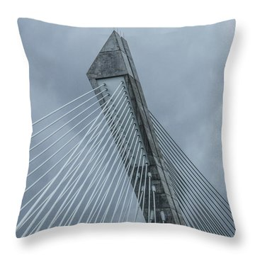Terenez Bridge II Throw Pillow