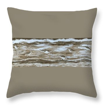 Teresa's Sandpipers Throw Pillow