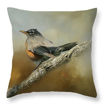 Teressia's Spring Robin  Throw Pillow