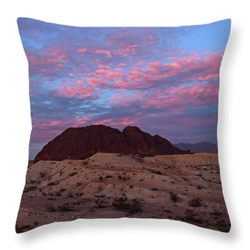 Throw Pillow featuring the painting Terlingua Sunset by Dennis Ciscel