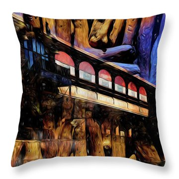 Throw Pillow featuring the photograph Terminal by Richard Ricci