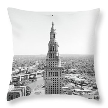 Terminal Tower Ca. 2015 Throw Pillow