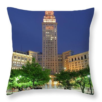 Terminal Tower Throw Pillow