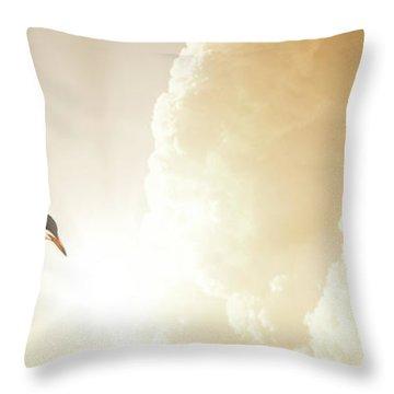 Tern In Flight, Spiritual Light Of Dusk Throw Pillow