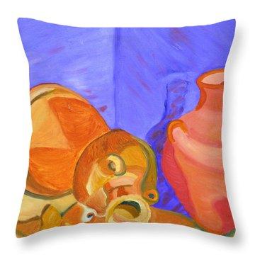Terra Cotta Throw Pillow