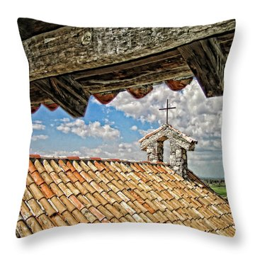 Terra Cotta Church Throw Pillow