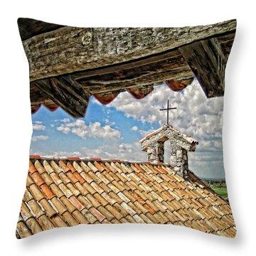 Terra Cotta Church Throw Pillow
