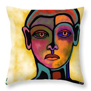 Terra-cotta Guard Throw Pillow