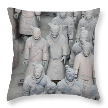 Terra Cotta Warriors Detail Throw Pillow