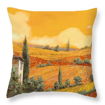 terra di Siena Throw Pillow by Guido Borelli