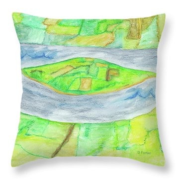 Terra Incognita Throw Pillow by Dominique Fortier