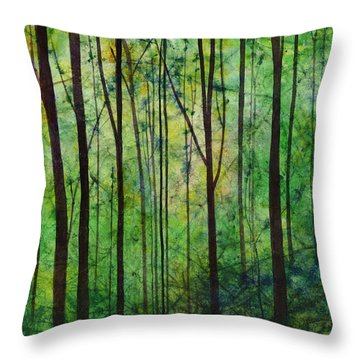 Throw Pillow featuring the painting Terra Verde by Hailey E Herrera