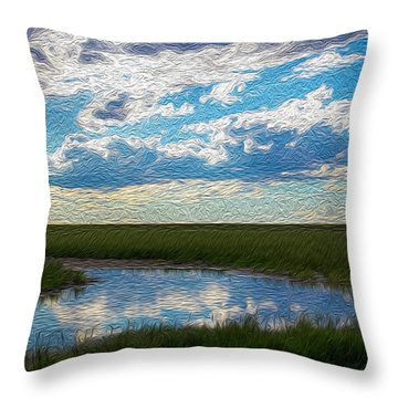 Terrace Pond Throw Pillow