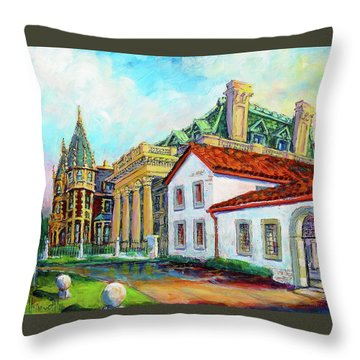 Terrace Villas Throw Pillow by Les Leffingwell