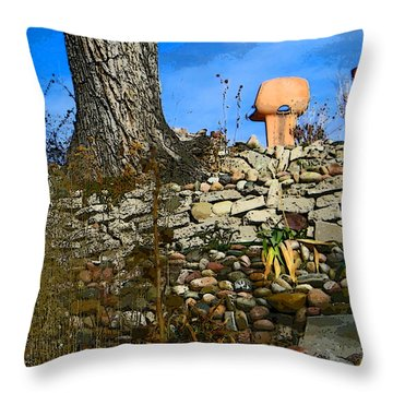 Terraced Garden 5 Throw Pillow by Lenore Senior