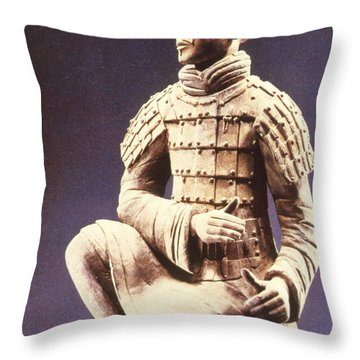 Terracotta Soldier Throw Pillow