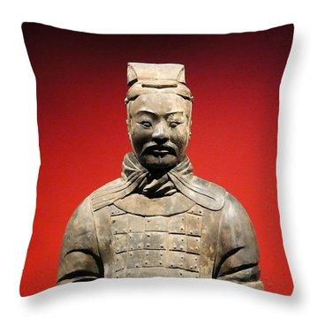 Terracotta Warrior Army Of Qin Shi Huang Di I Throw Pillow