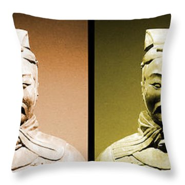 Terracotta Warrior Army Of Qin Shi Huang Di - Royg Throw Pillow