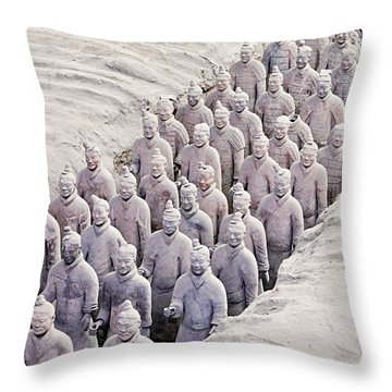 Terracotta Warriors Throw Pillow