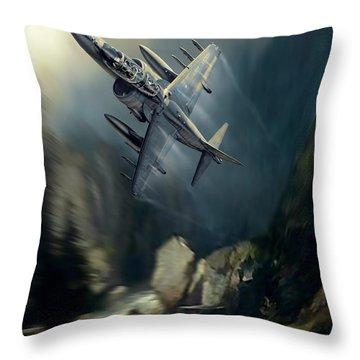 Terrain Hugging Two Throw Pillow