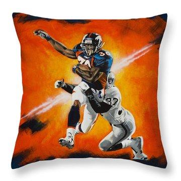 Terrell Davis II Throw Pillow