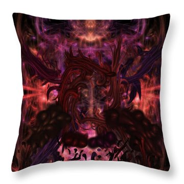 Throw Pillow featuring the digital art Terrible Certainty by Reed Novotny