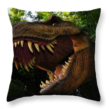 Terrible Lizard Throw Pillow by David Lee Thompson