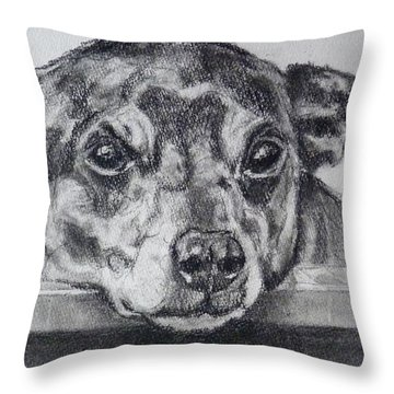 Terrier Attitude Throw Pillow