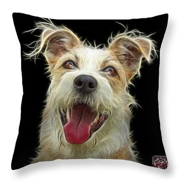 Terrier Mix 2989 - Bb Throw Pillow