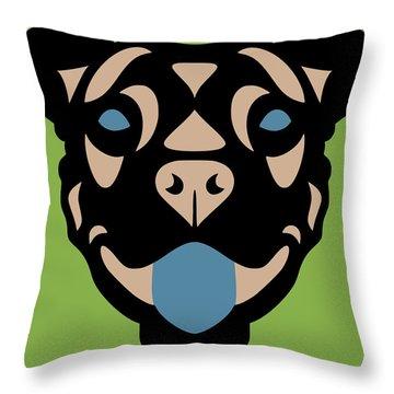 Terrier Terry - Dog Design - Greenery, Hazelnut, Niagara Blue Throw Pillow