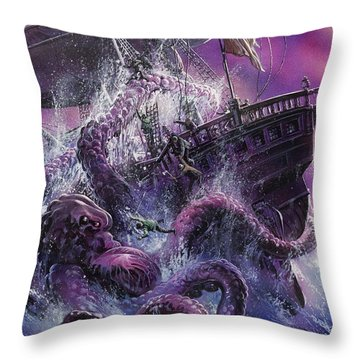 Terror From The Deep Throw Pillow by Oliver Frey