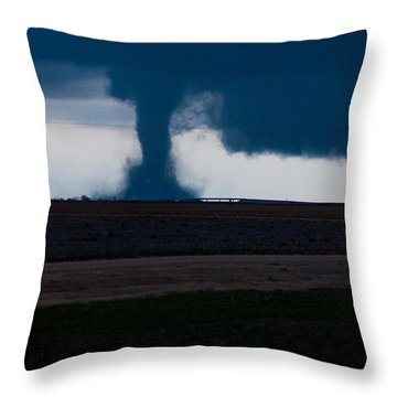 Terror On The Horizon In Western Kansas Throw Pillow