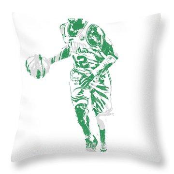 Terry Rozier Boston Celtics Pixel Art 10 Throw Pillow