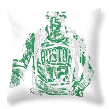 Terry Rozier Boston Celtics Pixel Art 11 Throw Pillow