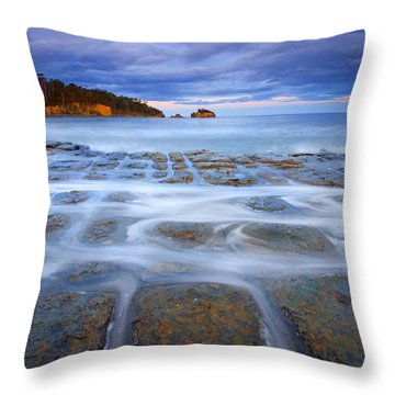 Tesselated Sunset Throw Pillow by Mike  Dawson
