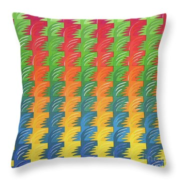 Tessellation Throw Pillow by Jacqueline Phillips-Weatherly